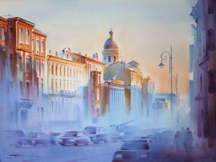 художник Константин Кузема акварель картины - 04