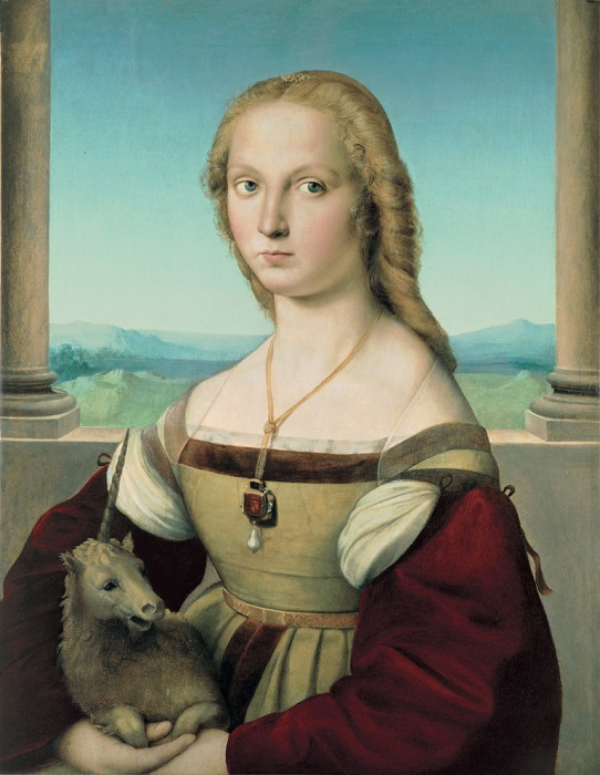 Дама с единорогом. Рафаэль, ок. 1506 г.   Фото: hyperallergic.com.