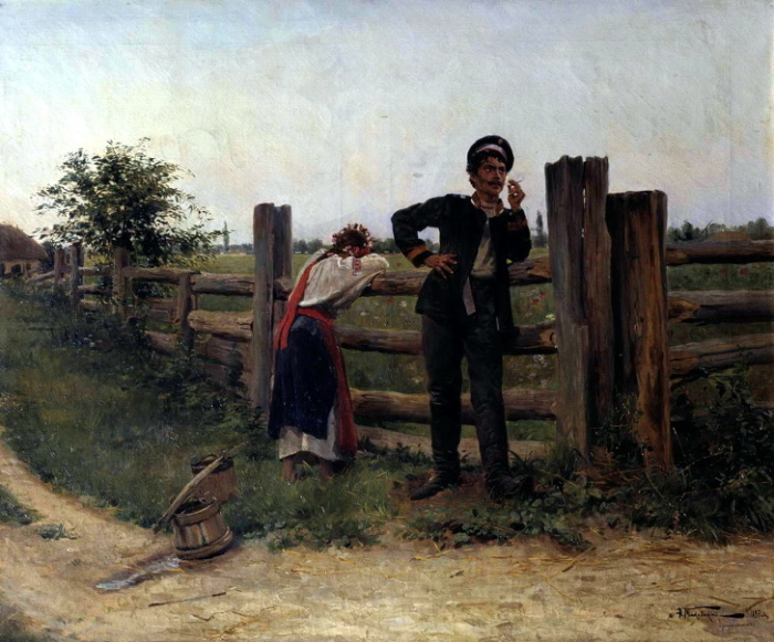 Александр Маковский, «Надоела», 1897 год