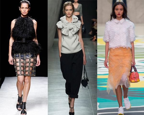 Модный декор блузок весна-лето 2015
