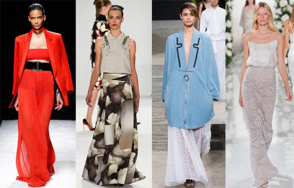 Модные юбки в пол  весна-лето 2015