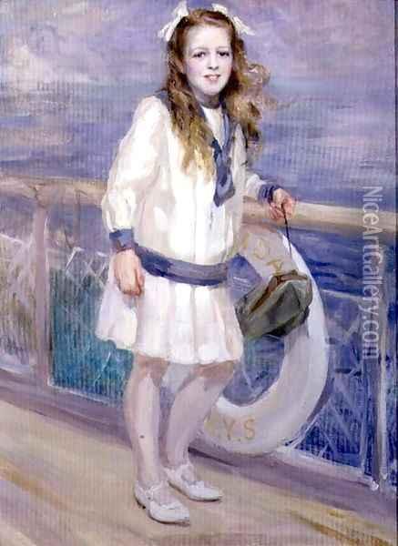 Девушка в матроске картина маслом - Чарльз Симс