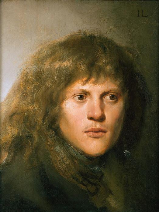 1 Автопортрет, ок. 1629-1630. В отличие от Рембрандта Ян Ливенс был еще и красив. (523x700, 141Kb)