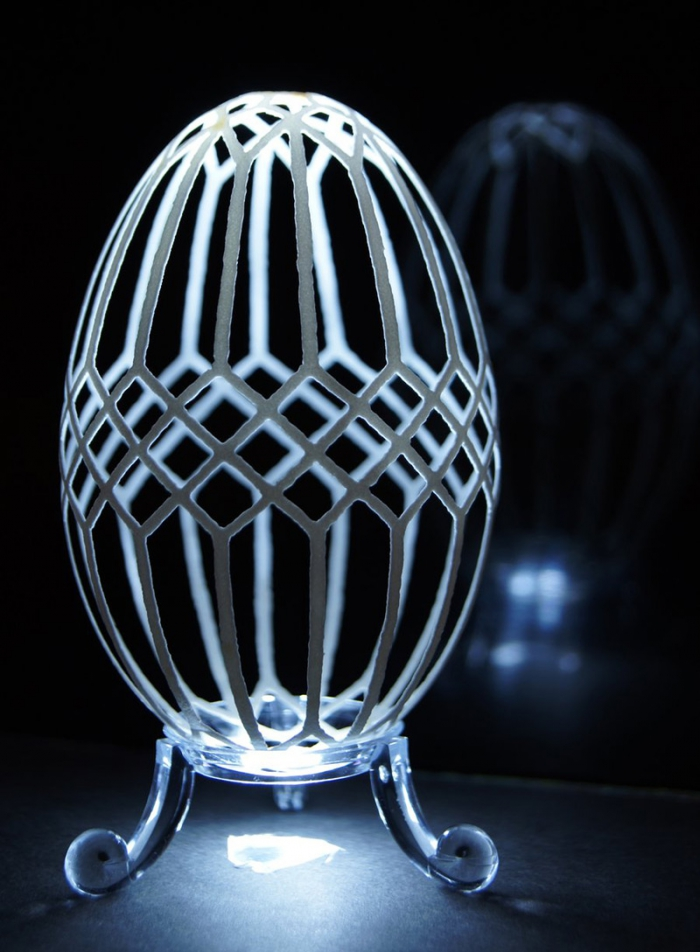 резьба по яичной скорлупе
