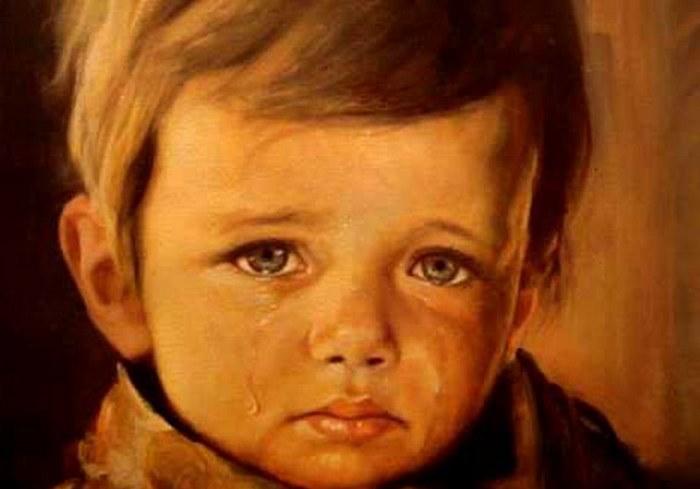 Плачущий мальчик.