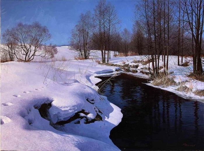 Зимний пейзаж. Гиперреализм от Сергея Трухана.