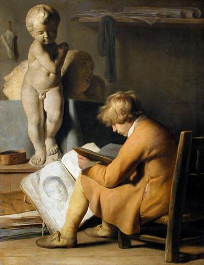 3 Мальчик в мастерской художника, ок. 1630  (400x519, 192Kb)