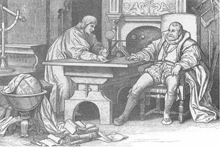 Иоганн Кеплер и Тихо Браге.