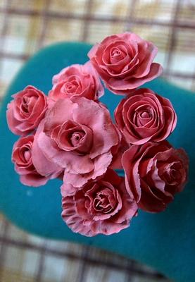 розы +из холодного фарфора