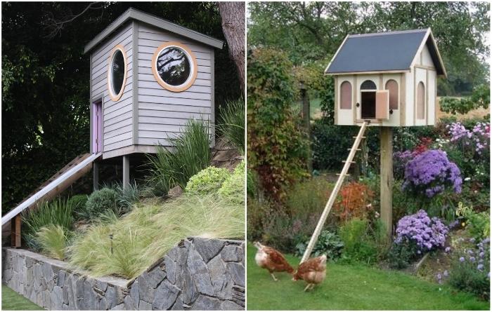 В этих курятниках владельцы воплотили свою мечту иметь домик на дереве. | Фото: happymodern.ru/ 1dacha-sad.com.