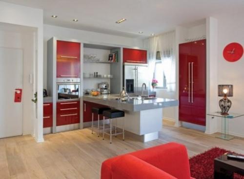 Вишневые кухни в интерьере