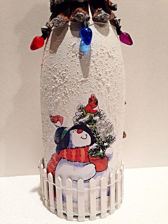 Пример использования соли для декора бутылки