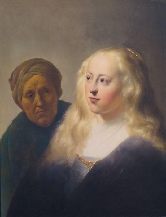 9 Девушка и старая служанка, 1629. (536x700, 53Kb)