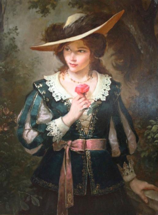 Леди с розой. Автор: Андрей Шишкин.