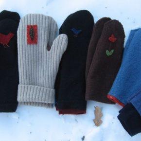варежки из свитера своими руками
