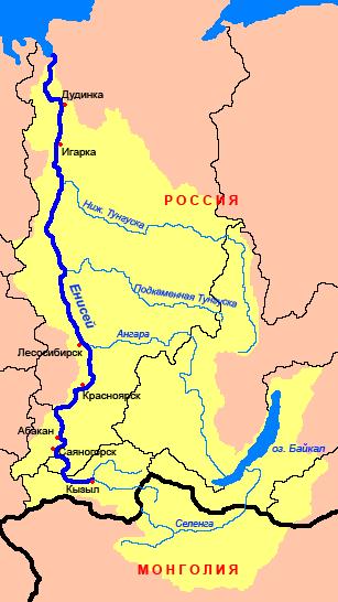 этого картинка река енисей на карте нашем случае это