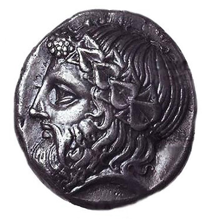 Монета с изображением тирана Дионисия.
