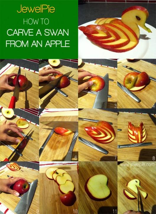 Как сделать цветок из яблока своими руками