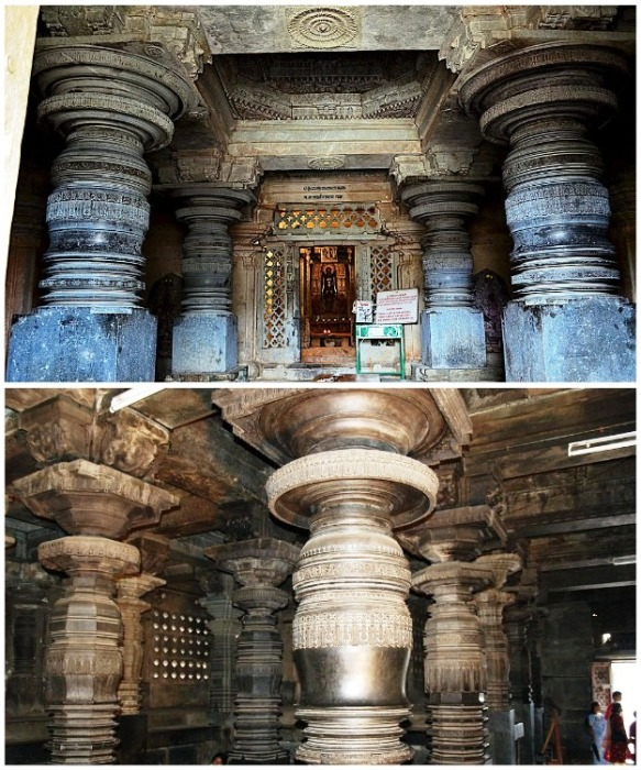 Резные колонны Шраванабелагола являются одной и самых красивых и загадочных творений, дошедших до наших дней (Индия).   Фото: zhiznteatr.mirtesen.ru.