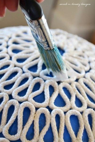 Стильная люстра из бельевой веревки
