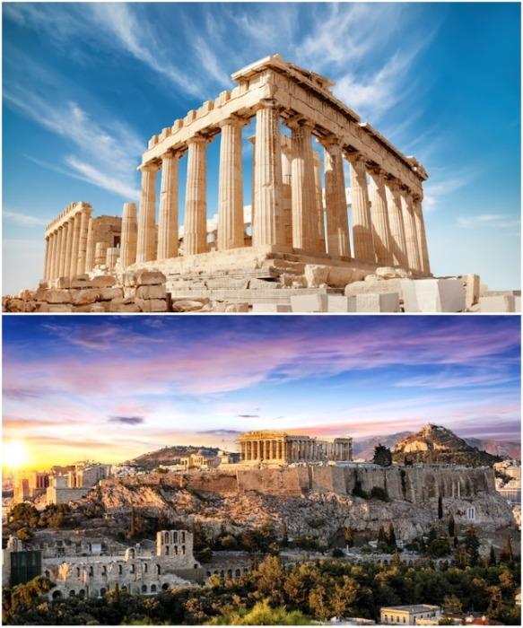 Парфенон строился в честь богини Афины-Паллады (Акрополь, Афины). | Фото: mymodernmet.com.