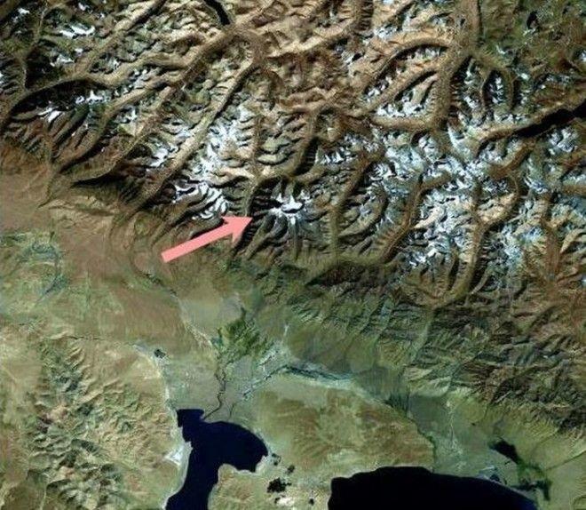 Фото Кайласа из космоса Фото wwwtibetru