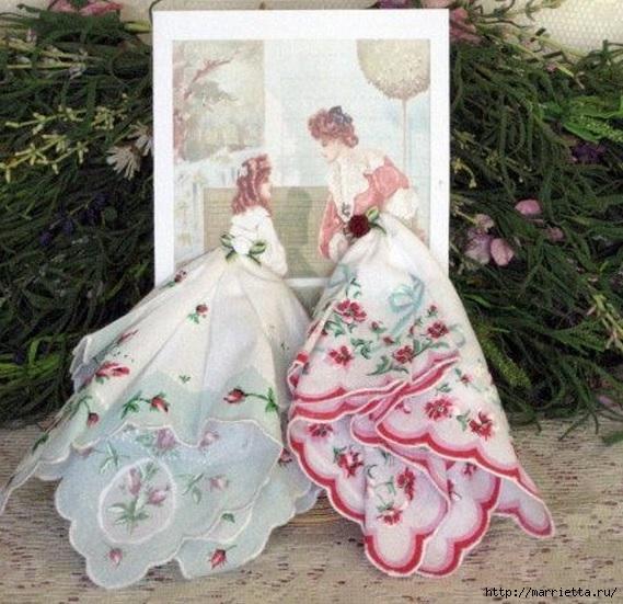 Открытка с платьем из платочка, открыток дню святого