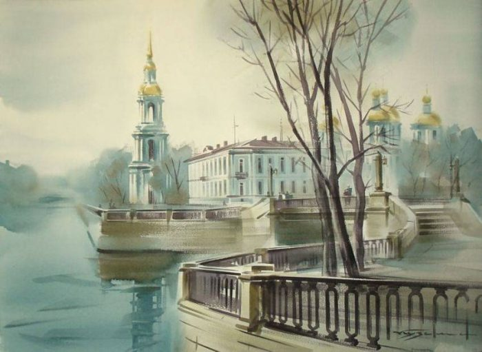 художник Константин Кузема акварель картины - 11