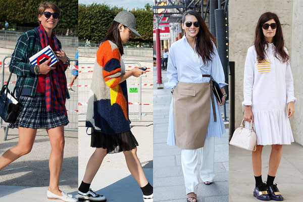 Уличная мода весна-лето 2015: Плиссированные юбки