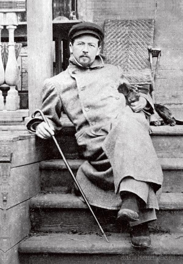 А.П. Чехов в Мелихове со своей любимой таксой
