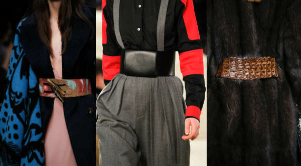 Модные широкие ремни осень-зима 2014-2015
