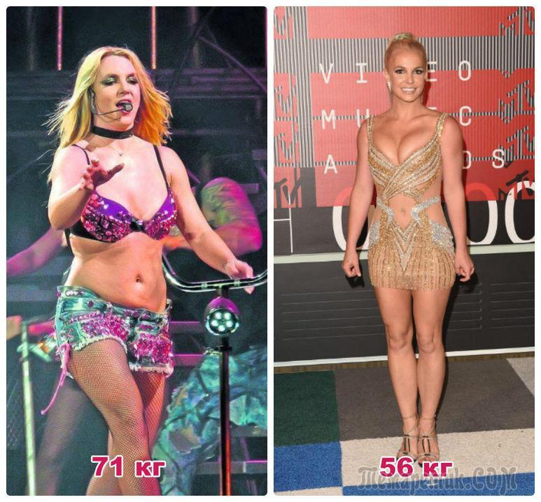 Примеры похудения звезд