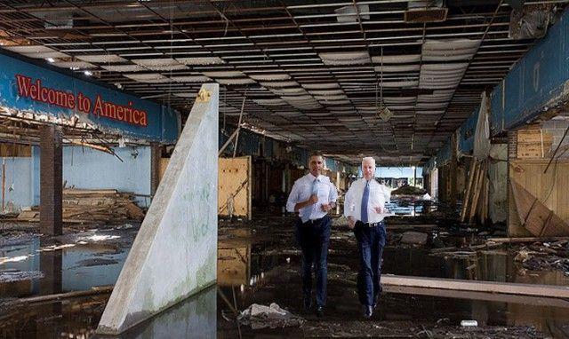 Фотожабы на пробежку Обамы и Байдена по Белому Дому сша, президент, барак обама, байден, фотошоп