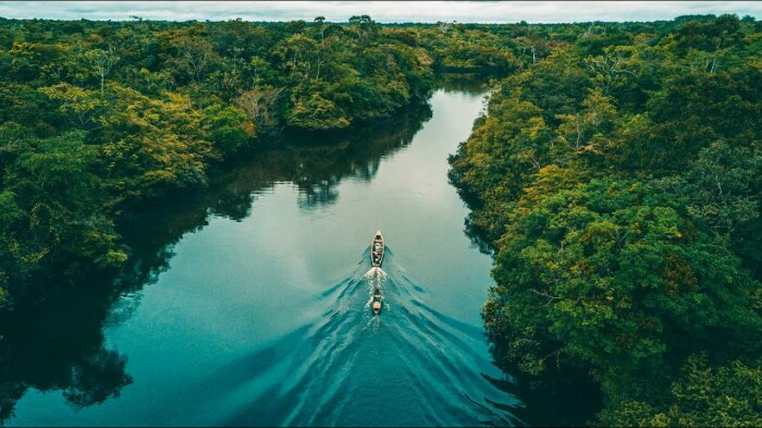Не так давно ученым удалось выяснить, что непосредственно под дном Амазонки протекает другая река / Фото: YouTube