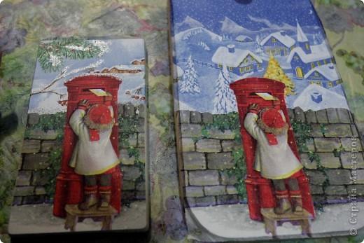 Декор предметов, Мастер-класс Декупаж: как соединить 2 салфетки м\к Салфетки Новый год. Фото 1