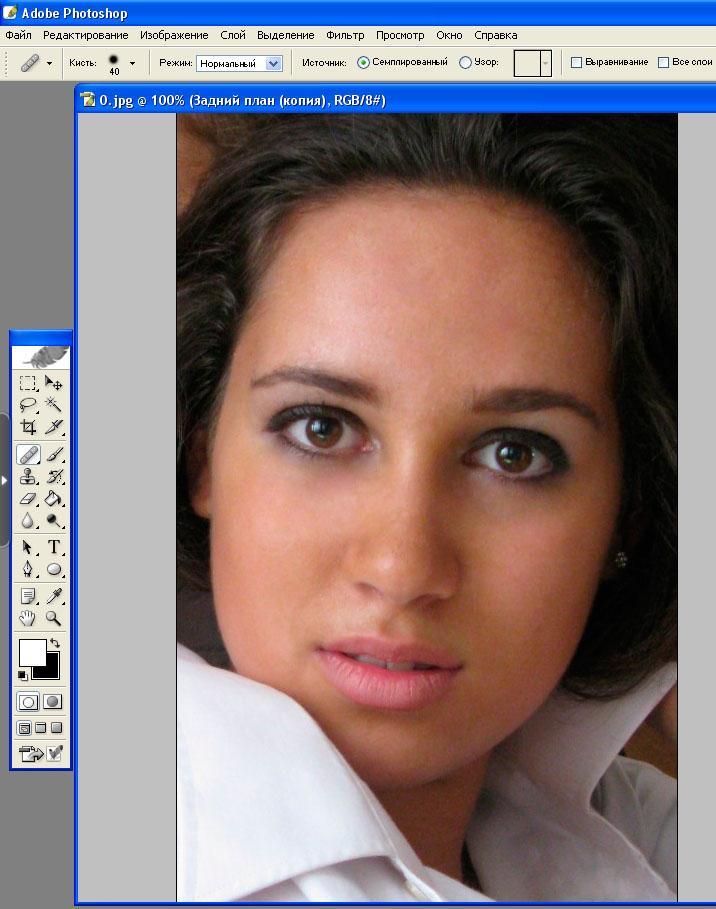 Рис. 20 – финальный результат ретуши с использованием восстанавливающей кисти