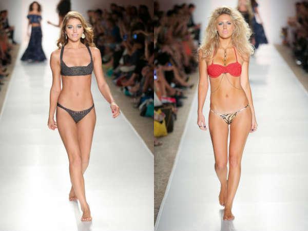 Модные вязаные купальники лето 2015
