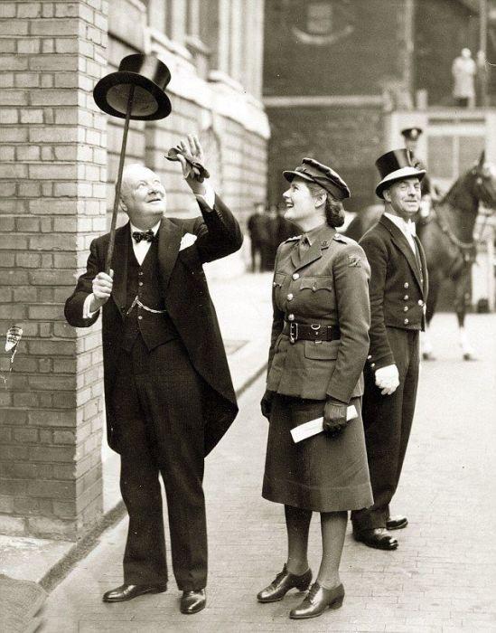 Мэри Черчилль с отцом. / Фото: www.dailymail.co.uk