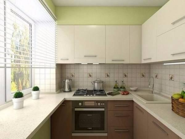 современный дизайн маленькой кухни, фото 45