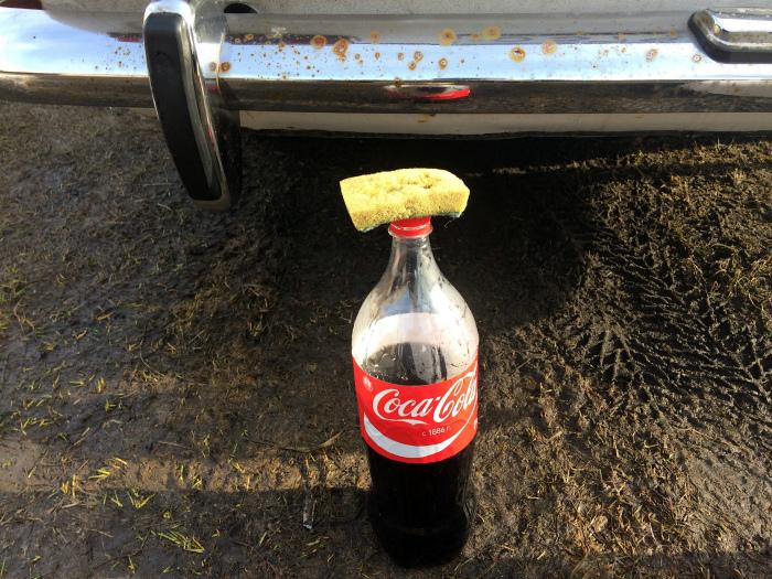 Кока-кола от ржавчины.