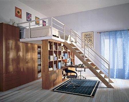 Второй этаж в однокомнатной квартире