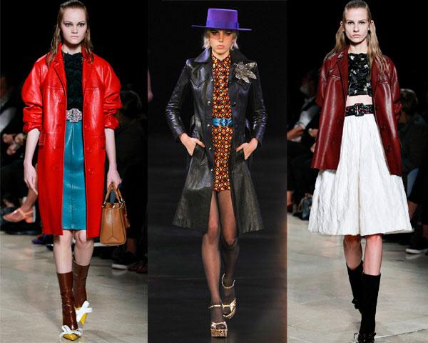 Модные кожаные плащи весна 2015