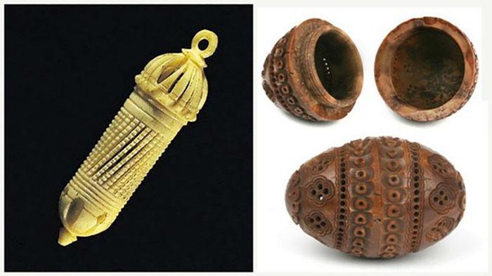 Как и любой предмет своей эпохи, блохоловки для знати были выполнены изящно, из дорогих материалов