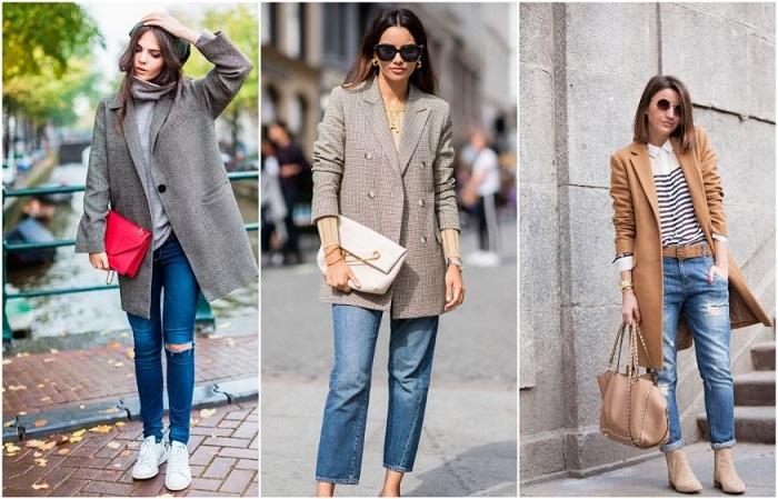 Осенью можно носить джинсы самых разных фасонов