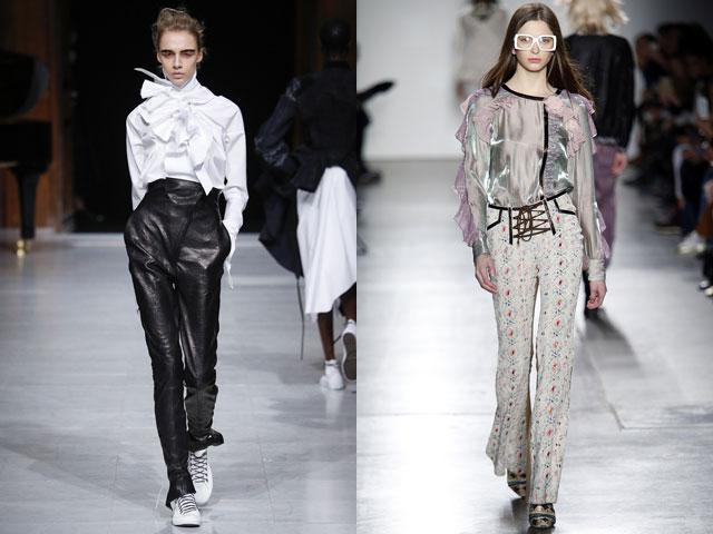 Модные блузы с воланами и рюшами