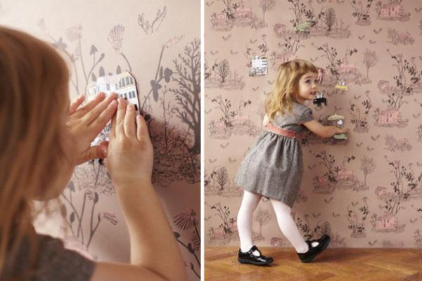 Волшебные магнитные обои. Идеи для дизайна детской комнаты