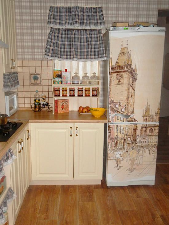 Наклейка на холодильник - старинная улочка