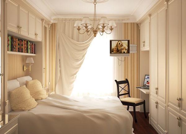 Уютная спальня в традиционном стиле