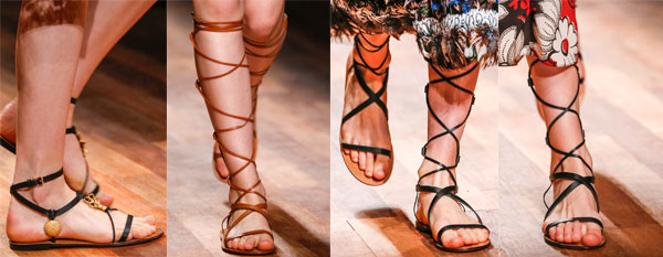 Модные гладиаторы от Valentino
