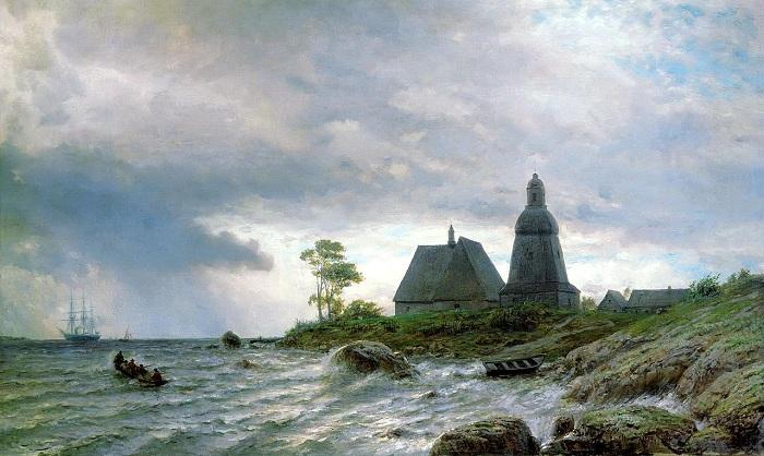«Северный пейзаж». (1872). Рязанский государственный областной художественный музей. Автор: Л. Ф. Лагорио.
